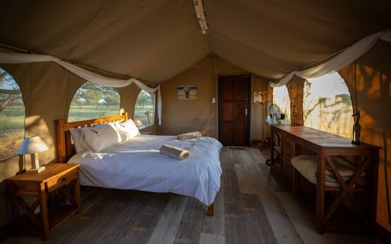 Luxury camping and glamping in the kalahari